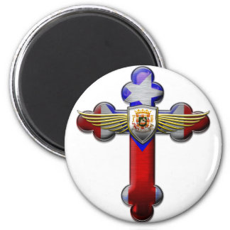 Puerto Rico - Cross & Seal Refrigerator Magnets