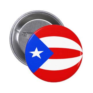 Puerto Rico Fisheye Flag Button