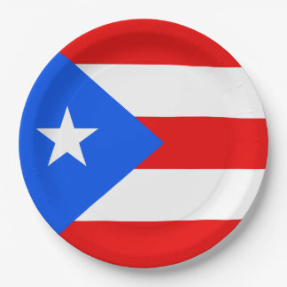 Puerto Rico Flag 9 Inch Paper Plate
