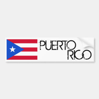 Puerto Rico Flag Car Bumper Sticker