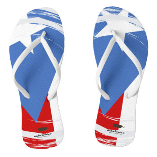 Puerto Rico Flag Design Thongs