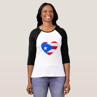 Puerto Rico Flag Heart Shirt
