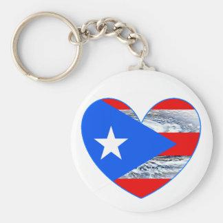Puerto Rico Flag Hurricane Maria 2017 Keychain