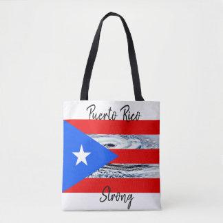 Puerto Rico Flag Hurricane Tote Bag