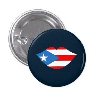 Puerto Rico: Flag Kissing Lips Novelty Pin