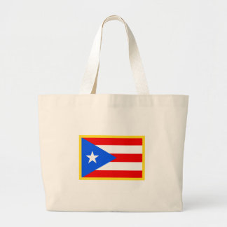 Puerto Rico Flag Large Tote Bag