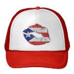 Puerto Rico Flag Lips Hat