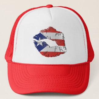 Puerto Rico Flag Lips Trucker Hat
