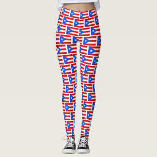 Puerto Rico flag pattern workout and yoga Leggings