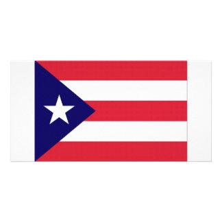 Puerto Rico Flag Photo Card Template