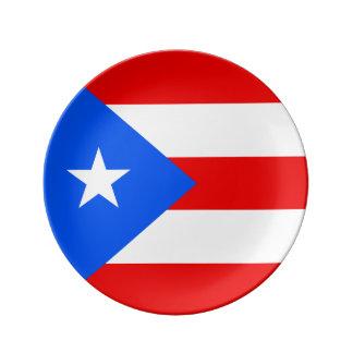 Puerto Rico Flag Porcelain Plate