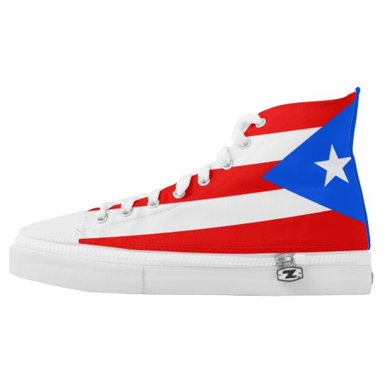 Puerto Rico Flag Printed Shoes