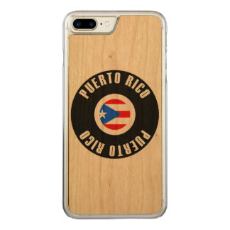 Puerto Rico Flag Simple Carved iPhone 7 Plus Case