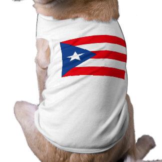 Puerto Rico Flag Sleeveless Dog Shirt