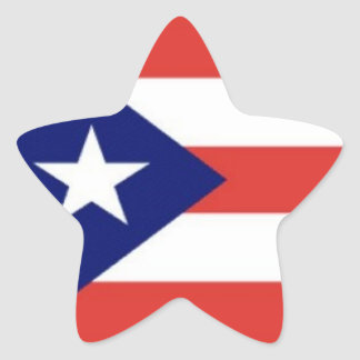 Puerto Rico flag star stickers