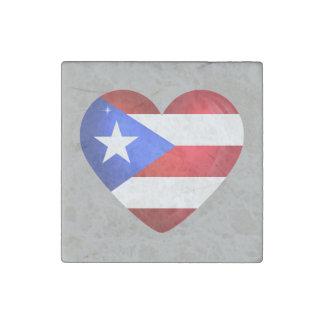 Puerto Rico Flag Stone Magnet