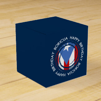 Puerto Rico : Flag Theme: Birthday Boricua Favour Box