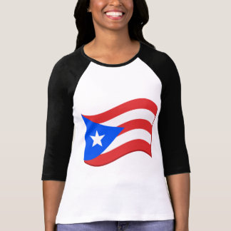 Puerto Rico Flag Waving Tees and Gifts