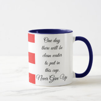 Puerto Rico Flag with Raindrops, One Day Quote Mug