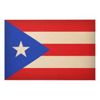 Puerto Rico Flag Wood Wall Decor