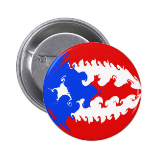 Puerto Rico Gnarly Flag 6 Cm Round Badge