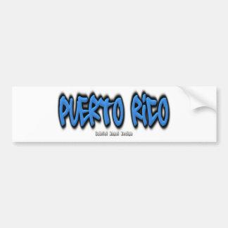 Puerto Rico Graffiti Bumper Sticker