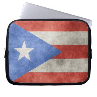 Puerto Rico Grunge Flag Laptop Computer Sleeves