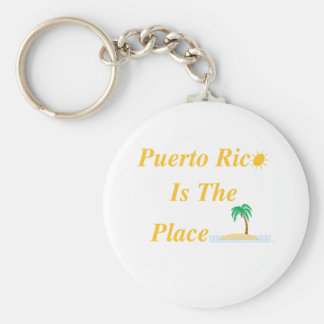 Puerto Rico Is The Place Key Ring