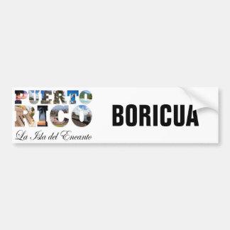 Puerto Rico La Isla Del Encanto Boricua Car Bumper Sticker