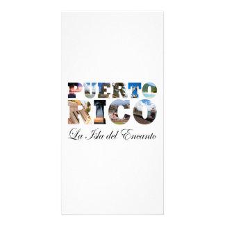 Puerto Rico La Isla Del Encanto Collage / Montage Photo Greeting Card