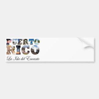 Puerto Rico La Isla Del Encanto Montage Car Bumper Sticker