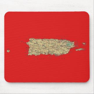 Puerto Rico Map Mousepad