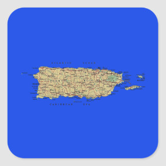 Puerto Rico Map Sticker