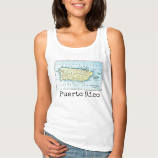 Puerto Rico Map Women's Tank