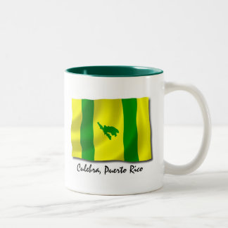 Puerto Rico Mug: Culebra Two-Tone Coffee Mug