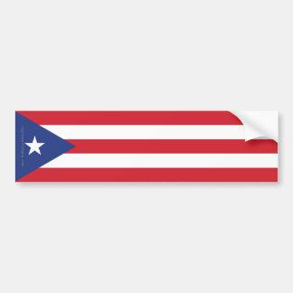 Puerto Rico Plain Flag Bumper Sticker