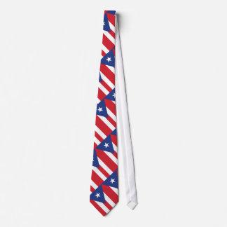 Puerto Rico Plain Flag Tie