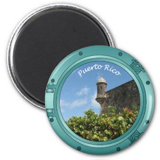 Puerto Rico Porthole 6 Cm Round Magnet