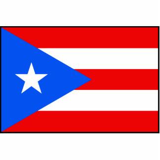 Puerto Rico – Puerto Rican Flag Standing Photo Sculpture