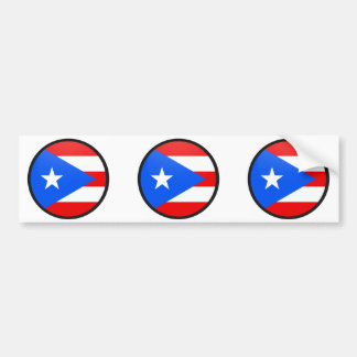 Puerto Rico quality Flag Circle Bumper Sticker