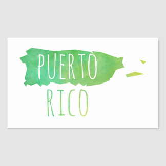 Puerto Rico Rectangular Sticker