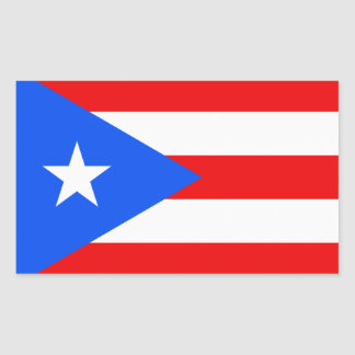 Puerto Rico Rectangular Sticker