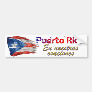 Puerto Rico Relief - In our Prayers Bumper Sticker