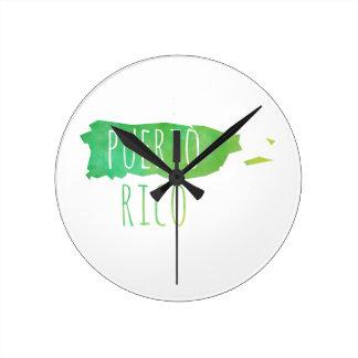 Puerto Rico Round Clock