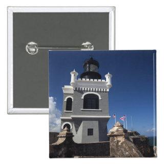 Puerto Rico, San Juan, Old San Juan, El Morro 15 Cm Square Badge