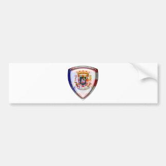 Puerto Rico - Seal on Shield Bumper Sticker