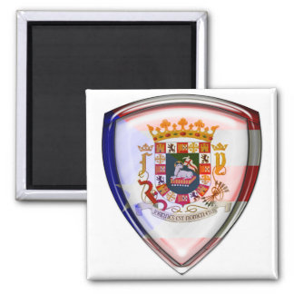 Puerto Rico - Seal on Shield Magnets
