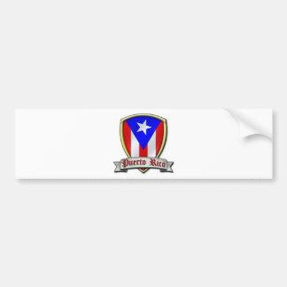 Puerto Rico - Shield2 Bumper Sticker