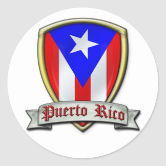 Puerto Rico - Shield2 Classic Round Sticker