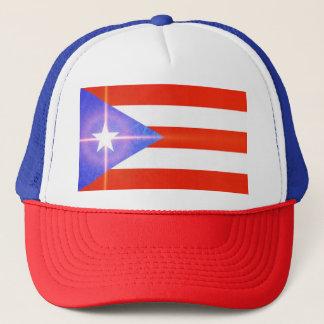 Puerto Rico Shining Star Flag Stickers Cap